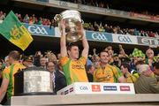 23 September 2012; Patrick McBrearty, Donegal, lifts the Sam Maguire Cup. GAA Football All-Ireland Senior Championship Final, Donegal v Mayo, Croke Park, Dublin. Picture credit: Ray McManus / SPORTSFILE