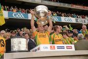 23 September 2012; Neil McGee, Donegal, lifts the Sam Maguire Cup. GAA Football All-Ireland Senior Championship Final, Donegal v Mayo, Croke Park, Dublin. Picture credit: Ray McManus / SPORTSFILE
