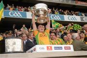 23 September 2012; Martin McElhinney, Donegal, lifts the Sam Maguire Cup. GAA Football All-Ireland Senior Championship Final, Donegal v Mayo, Croke Park, Dublin. Picture credit: Ray McManus / SPORTSFILE