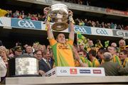23 September 2012; Stephen Griffin, Donegal, lifts the Sam Maguire Cup. GAA Football All-Ireland Senior Championship Final, Donegal v Mayo, Croke Park, Dublin. Picture credit: Ray McManus / SPORTSFILE