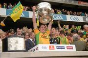23 September 2012; Martin O'Reilly, Donegal, lifts the Sam Maguire Cup. GAA Football All-Ireland Senior Championship Final, Donegal v Mayo, Croke Park, Dublin. Picture credit: Ray McManus / SPORTSFILE