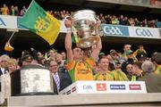 23 September 2012; David Walsh, Donegal, lifts the Sam Maguire Cup. GAA Football All-Ireland Senior Championship Final, Donegal v Mayo, Croke Park, Dublin. Picture credit: Ray McManus / SPORTSFILE