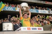 23 September 2012; Karl Lacey, Donegal, lifts the Sam Maguire Cup. GAA Football All-Ireland Senior Championship Final, Donegal v Mayo, Croke Park, Dublin. Picture credit: Ray McManus / SPORTSFILE