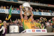 23 September 2012; Declan Walsh, Donegal, lifts the Sam Maguire Cup. GAA Football All-Ireland Senior Championship Final, Donegal v Mayo, Croke Park, Dublin. Picture credit: Ray McManus / SPORTSFILE