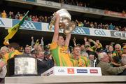 23 September 2012; Eamon McGee, Donegal, lifts the Sam Maguire Cup. GAA Football All-Ireland Senior Championship Final, Donegal v Mayo, Croke Park, Dublin. Picture credit: Ray McManus / SPORTSFILE