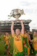 23 September 2012; Dermot Molloy, Donegal, lifts the Sam Maguire Cup. GAA Football All-Ireland Senior Championship Final, Donegal v Mayo, Croke Park, Dublin. Picture credit: Ray McManus / SPORTSFILE