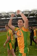 23 September 2012; Rory Kavanagh, Donegal, celebrates after the game. GAA Football All-Ireland Senior Championship Final, Donegal v Mayo, Croke Park, Dublin. Picture credit: Ray McManus / SPORTSFILE