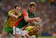 23 September 2012; Aidan O'Shea, Mayo, in action against Michael Murphy, Donegal. GAA Football All-Ireland Senior Championship Final, Donegal v Mayo, Croke Park, Dublin. Picture credit: Ray McManus / SPORTSFILE