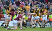 30 September 2012; Kilkenny players, from left, Conor Fogarty, Eoin Murphy, Tommy Walsh, David Herity, Richie Doyle, Richie Power and Noel Hickey celebrate at the final whistle. GAA Hurling All-Ireland Senior Championship Final Replay, Kilkenny v Galway, Croke Park, Dublin. Picture credit: Brendan Moran / SPORTSFILE
