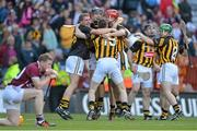 30 September 2012; Kilkenny players, from left, Eoin Murphy, David Herity, Conor Fogarty, Tommy Walsh, Noel Hickey and Paul Murphy celebrate at the final whistle. GAA Hurling All-Ireland Senior Championship Final Replay, Kilkenny v Galway, Croke Park, Dublin. Picture credit: Brendan Moran / SPORTSFILE
