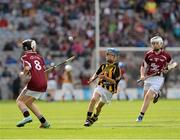 30 September 2012; Stephen Donnelly, Thomastown, Kilkenny, in action against Darragh Wilde, Turloughmore, Galway, during the INTO/RESPECT Exhibition GoGames at the GAA Hurling All-Ireland Senior Championship Final Replay between Kilkenny and Galway. Croke Park, Dublin. Picture credit: Ray McManus / SPORTSFILE