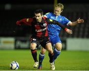 6 October 2012; Keith Gillespie ,Longford Town, in action against David O'Leary, Limerick FC. Airtricity League First Division, Longford Town v Limerick, Flancare Park, Co. Longford. Picture credit: David Maher / SPORTSFILE