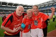 7 October 2012; Cork manager Eamonn Ryan celebrates with Deirdre O'Reilly and Juliet Murphy. TG4 All-Ireland Ladies Football Senior Championship Final, Cork v Kerry, Croke Park, Dublin. Picture credit: Ray McManus / SPORTSFILE