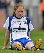 7 October 2012; A dejected Aoife Landers, Waterford, after the game. TG4 All-Ireland Ladies Football Intermediate Championship Final, Armagh v Waterford, Croke Park, Dublin. Picture credit: Brendan Moran / SPORTSFILE