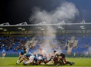 13 October 2012; Steam rises from a scrum during the second half. British & Irish Cup, Leinster A v Leeds Carnegie, Donnybrook Stadium, Donnybrook, Dublin. Picture credit: Stephen McCarthy / SPORTSFILE