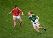 7 October 2012; Louise Ní Mhuircheartaigh, Kerry, in action against Geraldine O'Flynn, Cork. TG4 All-Ireland Ladies Football Senior Championship Final, Cork v Kerry, Croke Park, Dublin. Picture credit: Stephen McCarthy / SPORTSFILE