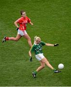7 October 2012; Bernie Breen, Kerry, in action against Orlagh Farmer, Cork. TG4 All-Ireland Ladies Football Senior Championship Final, Cork v Kerry, Croke Park, Dublin. Picture credit: Stephen McCarthy / SPORTSFILE