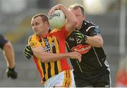 21 October 2012; Jason Stokes, Dromcollogher Broadford, in action against Mike McMahon, Newcastlewest. Limerick County Senior Football Championship Final, Dromcollogher Broadford v Newcastlewest, Gaelic Grounds, Limerick. Picture credit: Diarmuid Greene / SPORTSFILE