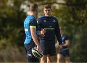 30 October 2017; Garry Ringrose with Rory O'Loughlin during Leinster Rugby Squad Training at UCD, Belfield in Dublin. Photo by Matt Browne/Sportsfile