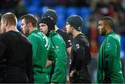 30 October 2012; Ireland players, from right, Simon Zebo, Conor Murray, Mike Ross and Tommy Bowe during squad training ahead of their side's Autumn International match against South Africa on Saturday November 10th. Ireland Rugby Squad Training, Donnybrook Stadium, Donnybrook, Dublin. Picture credit: Brian Lawless / SPORTSFILE