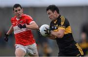 28 October 2012; Ambrose O'Donovan, Dr. Crokes, in action against Mikey Geaney, Dingle. Kerry County Senior Football Championship Final, Dingle v Dr. Crokes, Austin Stack Park, Tralee, Co. Kerry. Picture credit: Stephen McCarthy / SPORTSFILE