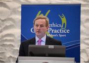 3 November 2012; An Taoiseach Enda Kenny TD speaking at the Code of Ethics & Good Practice for Children's Sport Information Day, hosted by the Irish Sports Council, at the Crowne Plaza Hotel, Blanchardstown, Dublin. Picture credit: Ray McManus / SPORTSFILE