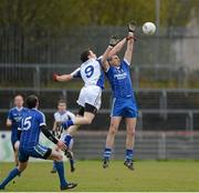 4 November 2012; Enda McGinley, Errigal Ciaran, in action against James Conway, Ballinderry Shamrocks. AIB Ulster GAA Senior Football Championship Quarter-Final, Errigal Ciaran, Tyrone v Ballinderry Shamrocks, Derry, Healy Park, Omagh. Picture credit: Oliver McVeigh / SPORTSFILE