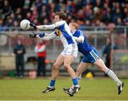 4 November 2012; Ciaran Quinn, Errigal Ciaran, in action against Colin Devlin, Ballinderry Shamrocks. AIB Ulster GAA Senior Football Championship Quarter-Final, Errigal Ciaran, Tyrone v Ballinderry Shamrocks, Derry, Healy Park, Omagh. Picture credit: Oliver McVeigh / SPORTSFILE
