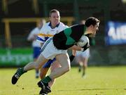 23 February 2003; Maurice McCarthy, Nemo Rangers, in action against Errigal Ciaran's Peter Loughran. AIB All-Ireland Club Football Championship Semi-final, Nemo Rangers v Errigal Ciaran, O'Moore Park, Portlaoise, Co Laois. Picture credit; Ray McManus / SPORTSFILE *EDI*