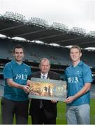 13 November 2012; Croke Park today teamed up with goalkeepers Paul Durcan, Donegal football, left, and James Skehill, Galway hurling, right, along with Uachtarán Chumann Lúthchleas Gael Liam Ó Néill to launch The Centenary Club – 100 one year premium tickets for 2013. Croke Park, Dublin. Picture credit: Brian Lawless / SPORTSFILE