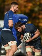 30 October 2017; Caelan Dorris in action against Josh Murphy during Leinster Rugby Squad Training at UCD, Belfield in Dublin. Photo by Matt Browne/Sportsfile