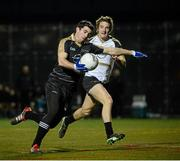 17 November 2012; Michael Darragh MacAuley, GAA GPA All-Stars 2011, slips past Aidan Walsh, GAA GPA All-Stars 2012, on his way to scoring the first goal of the game. GAA GPA All-Stars 2012 v GAA GPA All-Stars, Sponsored by Opel, Gaelic Park, Corlear Avenue, The Bronx, New York, NY, United States. Picture credit: Ray McManus / SPORTSFILE