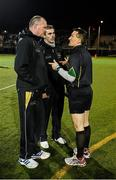 17 November 2012; Referee Maurice Deegan chatting to the GAA GPA All-Stars 2012 manager Jim McGuiness and the 2011 GAA GPA All-Stars manager Pat Gilroy before the game. GAA GPA All-Stars 2012 v GAA GPA All-Stars, Sponsored by Opel, Gaelic Park, Corlear Avenue, The Bronx, New York, NY, United States. Picture credit: Ray McManus / SPORTSFILE