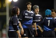 23 November 2012; Leinster team captain Marie-Louise Reilly with her players. Challenge Match, Leinster Women v Exiles, Ashbourne RFC, Ashbourne, Co. Meath. Picture credit: Matt Browne / SPORTSFILE