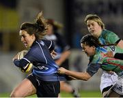 23 November 2012; Charlene Barter, Leinster, is tackled by Caroline Quinn, Exiles. Challenge Match, Leinster Women v Exiles, Ashbourne RFC, Ashbourne, Co. Meath. Picture credit: Matt Browne / SPORTSFILE