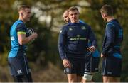 30 October 2017; Garry Ringrose with Rory O'Loughlin and Ross Byrne during Leinster Rugby Squad Training at UCD, Belfield in Dublin. Photo by Matt Browne/Sportsfile