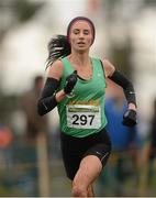 25 November 2012; Laura Crowe, Ríocht A.C., Co. Kerry, competing in the Senior Women's 8,000m at the Woodie's DIY Juvenile and Inter County Cross Country Championships. Tattersalls, Ratoath, Co. Meath. Picture credit: Paul Mohan / SPORTSFILE