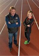 7 December 2012; Fionnuala Britton with her coach Chris Jones during a training session. Santry Stadium, Santry, Dublin. Picture credit: Barry Cregg / SPORTSFILE