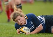 8 December 2012; Jenny Murphy, Leinster, goes over to score her side's first try. Women's Interprovincial, Leinster v Ulster, Ashbourne RFC, Ashbourne, Co. Meath. Picture credit: Matt Browne / SPORTSFILE