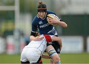 8 December 2012; Marie-Louise Reilly, Leinster, is tackled by Grace Davitt, Ulster. Women's Interprovincial, Leinster v Ulster, Ashbourne RFC, Ashbourne, Co. Meath. Picture credit: Matt Browne / SPORTSFILE