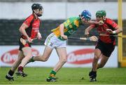 9 December 2012; James Gorman, Kilcormac Killoughey, in action against Keith Rossiter, right, and Darren Stamp, Oulart The Ballagh. AIB Leinster GAA Hurling Senior Club Championship Final, Oulart The Ballagh, Wexford v Kilcormac Killoughey, Offaly. Nowlan Park, Kilkenny. Picture credit: Stephen McCarthy / SPORTSFILE