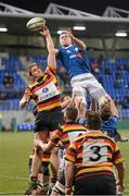14 December 2012; Willie Earl, Lansdowne, and Ciaran Ruddock, St. Mary's College, contest a lineout. Leinster Senior League Cup Final, St. Mary's College v Lansdowne, Donnybrook Stadium, Donnybrook, Dublin. Picture credit: Paul Mohan / SPORTSFILE