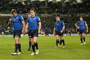 15 December 2012; Leinster players, from left, Jordi Murphy, Michael Bent, Eoin Reddan, Sean Cronin and Andrew Goodman leave the pitch after the game. Heineken Cup 2012/13, Pool 5, Round 4, Leinster v ASM Clermont Auvergne, Aviva Stadium, Lansdowne Road, Dublin. Picture credit: Stephen McCarthy / SPORTSFILE