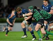 29 December 2012; Jordi Murphy, Leinster, is tackled by Johnny O'Connor, and Michael Swift, Connacht. Celtic League 2012/13, Round 12, Leinster v Connacht, RDS, Ballsbridge, Dublin. Picture credit: Matt Browne / SPORTSFILE