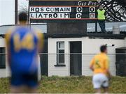 6 January 2013; Score keeper Martin Beirne looks on during the game. Connacht FBD League, Section B, Roscommon v Leitrim, Elphin GAA Club, Elphin, Co. Roscommon. Picture credit: David Maher / SPORTSFILE