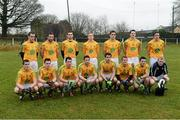 6 January 2013; The Leitrim team. Connacht FBD League, Section B, Roscommon v Leitrim, Elphin GAA Club, Elphin, Co. Roscommon. Picture credit: David Maher / SPORTSFILE