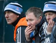 13 January 2013; Dublin manager Jim Gavin, centre, with selectors Mick Deegan, left, and Declan Darcy. Bórd na Móna O'Byrne Cup, Group B, Dublin v Wicklow, Parnell Park, Dublin. Picture credit: Brian Lawless / SPORTSFILE