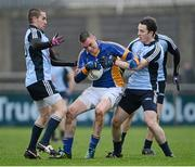 13 January 2013; Damian Power, Wicklow, in action against Gerry Seaver, left, and Gary Sweeney, Dublin. Bórd na Móna O'Byrne Cup, Group B, Dublin v Wicklow, Parnell Park, Dublin. Picture credit: Brian Lawless / SPORTSFILE