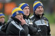 13 January 2013; Tipperary manager Eamon O'Shea with his selectors Paudie O'Neill, left, and Michael Ryan, right, during the game. Inter-County Challenge Match, Tipperary v Offaly, Templemore, Co. Tipperary. Picture credit: Matt Browne / SPORTSFILE