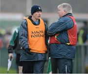 13 January 2013; Leitrim joint manager, George Dugdale, left, and Barney Breen. Connacht FBD League Section B, Leitrim v Mayo, Páirc Seán O'Heslin, Ballinamore, Co. Leitrim. Picture credit: David Maher / SPORTSFILE